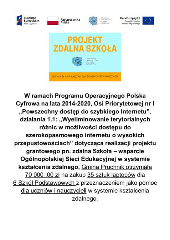 Galeria zdjęć: Gmina Pruchnik przekazała szkołom laptopy jako wsparcie do zdalnego kształcenia